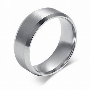 2016 new fashion black men ring stainless steel for Mens stainless steel wedding rings