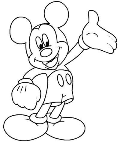 coloriage mickey mouse page  dididou avec mickey
