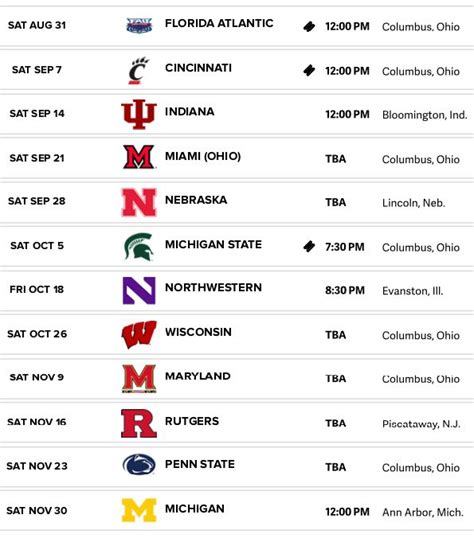 Critical Ohio State Football Schedule Printable | Sherry's ...