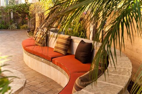 outdoor built in seating ideas patio mediterranean with