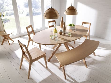 bench style table and chairs malmo scandinavian style dining furniture tables chairs