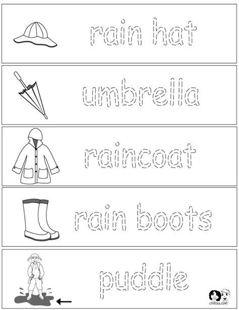 word worksheets 171 funnycrafts 102 | rain word worksheets