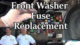 chevy   windshield washer fuse   hood fuse