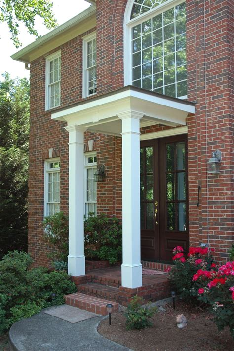 flat roof portico designed  built  georgia front