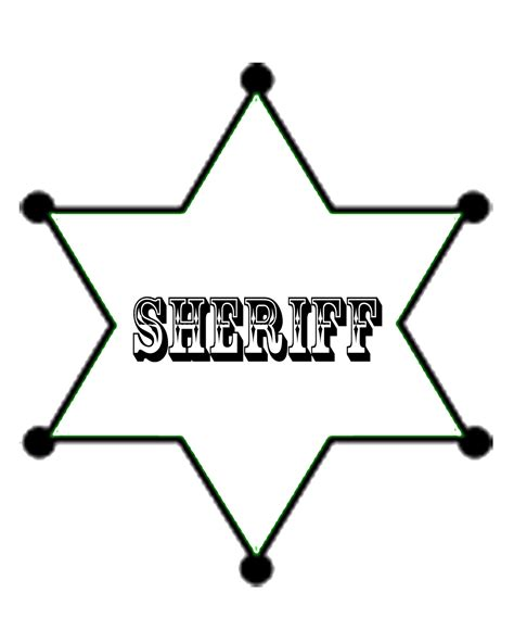 sheriff badge template crafts and creations by design sheriff badge free printables