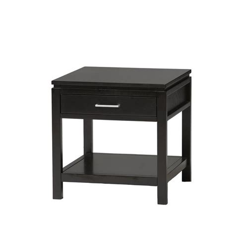 Black End Table With L Attached by Black Wood End Table 84028blk 01 Kd U
