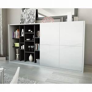 Meuble Cache Tv : meuble tv avec porte banc tv chene maisonjoffrois ~ Premium-room.com Idées de Décoration
