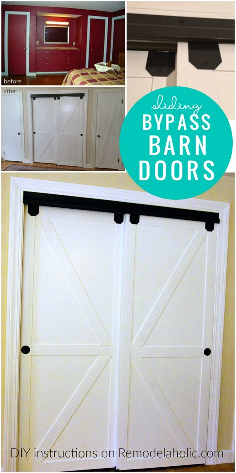 how to build a sliding barn remodelaholic how to bypass closet doors into