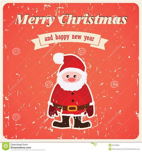 Santa Claus Card By Benchart Vectors Eps Vector Card With Santa Claus Royalty Free Stock