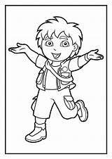 Diego Coloring Pages Dora Cartoon Go Printable Denis Daily Print Colouring Sheets Template Marquez Splendid Cure Preschool Amazing Cousin Adventures sketch template
