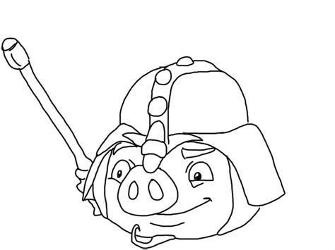 Kleurplaat Angry Birds Pig by Angry Birds Epic Coloring Page Pig My Free