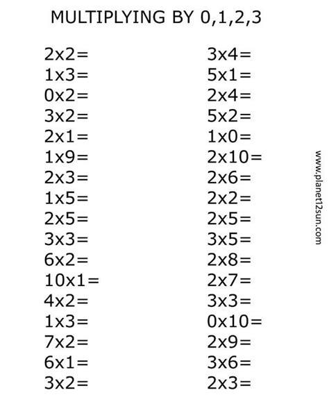 Multiplying For Beginners, 2nd, 3rd Grade  Worksheets For Kids  Pinterest Math