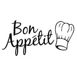 cuisine bon appetit fashion characters words restaurant kitchen stickers bon
