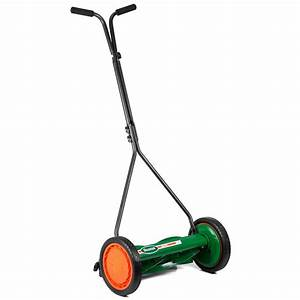 Manual Walk Behind Push Reel Lawn Mower Outdoor Power