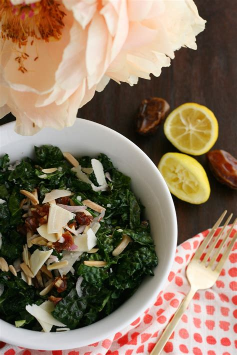 Lactation Recipes Kale Salad With Dates And Toasted