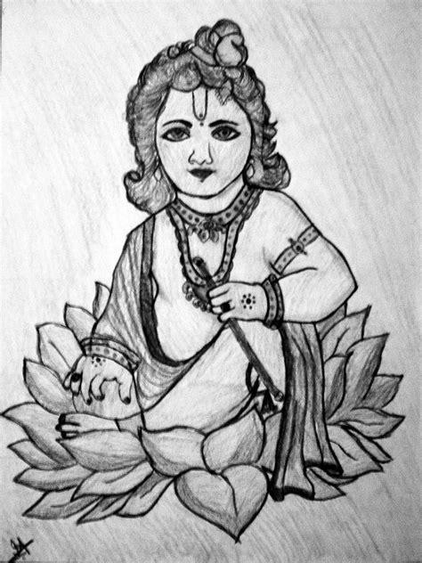 Lord Sri Krishna Drawing by Indu Raghavan