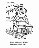 Train Coloring Pages Sheets Engine Steam Trains Railroad Colouring Clip Quest Safety Printable Printables Monorail Stop Comments Listen Print Coloringhome sketch template