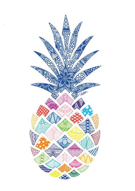 pineapple print   pineapple art pineapple print