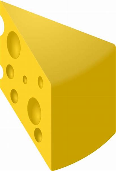 Cheese Slice Swiss Yellow Clip Clker Clipart