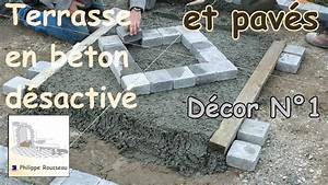 Faire Du Beton : faire du b ton d sactiv et pose de pav s partie 3 ~ Zukunftsfamilie.com Idées de Décoration