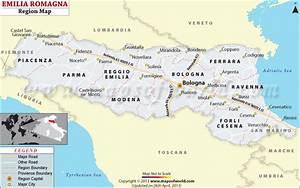Emilia-Romagna Map, Map of Emilia-Romagna Region in Italy