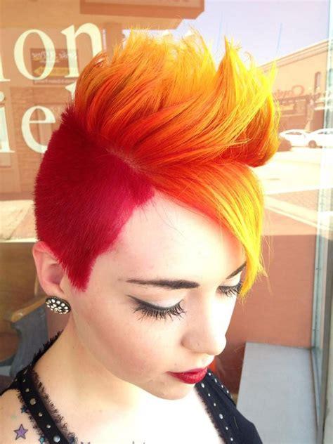 Fire Mohawk Hair Colors Ideas