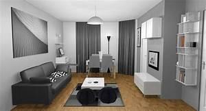 Decoration Salon Design Gris Et Blanc
