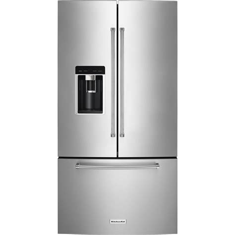 kitchenaid 23 7 cu ft door counter depth refrigerator stainless steel at pacific sales