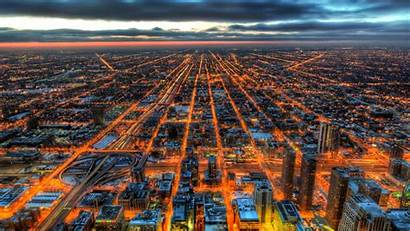 Hdr Chicago 4k Wallpapers Resolution Backgrounds Lights