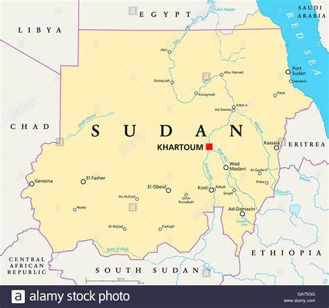 Sudan Political Map