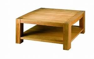 Table Carree Chene : table basse ch ne acadie carr e mobilier ~ Teatrodelosmanantiales.com Idées de Décoration