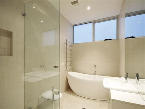 design a bathroom free modern bathroom design with freestanding bath using frameless glass bathroom photo 456354