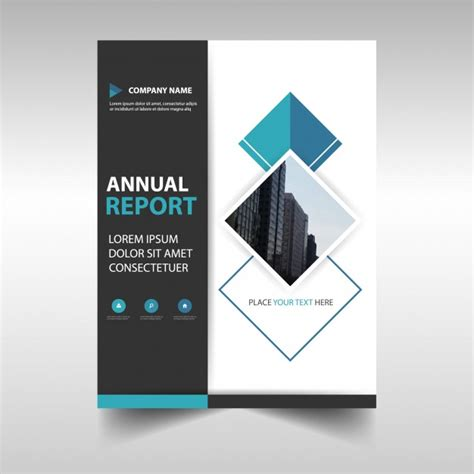 title page abstract template abstract corporate annual report template vector free