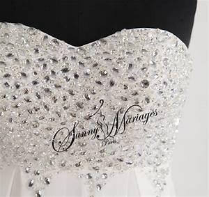robe de mariee empire avec bustier strass 2 sunny mariage With robe de mariée bustier strass
