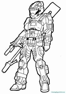 halo coloring pages - halo 4 coloring pages