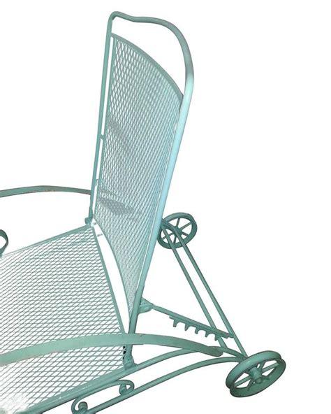 woodard iron mesh steel outdoor patio chaise