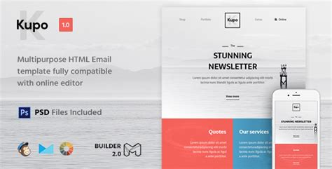html mail template free kupo html email template builder 2 0 by maileden themeforest