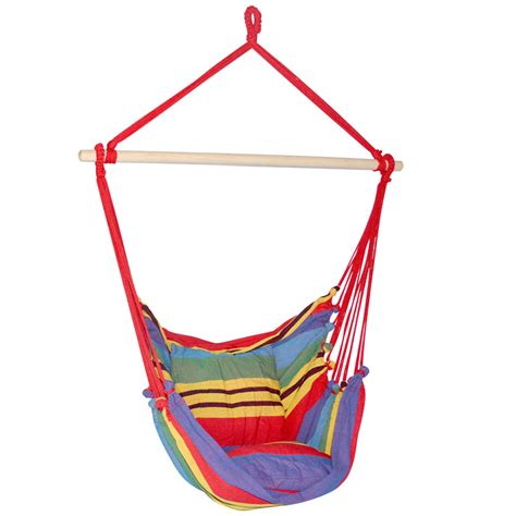 hammock swing chairs hammock swing chair deluxe rainbow