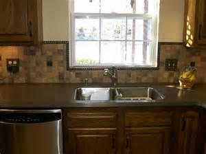 Kitchen Backsplash Ideas With Cabinets Fabulous Slate Mosaic Backsplash Ideas And Wooden Style Kitchen Cabinet