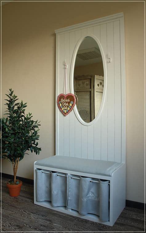 edle landhaus garderobe maravilla mit sitzbank spiegel impressionen neu ebay