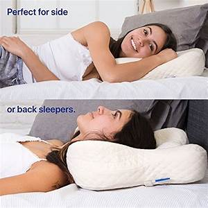 cradle me cervical pillow orthopedic contour pillow With back support for side sleepers