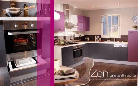cuisine aubergine lapeyre cuisine cuisines en kit lapeyre blanc gris