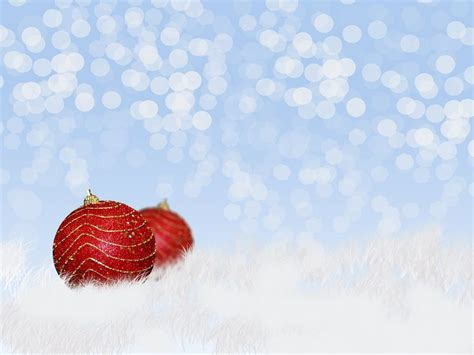 Christmas decorations in snow   Free Image on 4 Free Photos