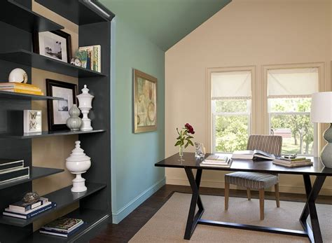 interior paint ideas  inspiration green home offices
