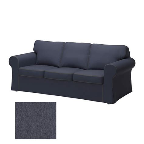 Slipcovers For Sectional Sofas Ikea by Ikea Ektorp 3 Seat Sofa Slipcover Cover Jonsboda Blue Last One