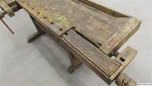 Antique Carpenters Woodworking Bench - Victor-Bruno com