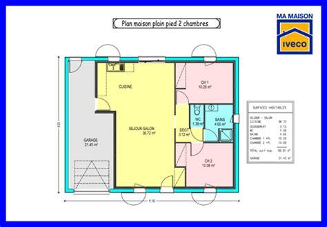plan plain pied 2 chambres constructeurvendee 187 plans de maisons