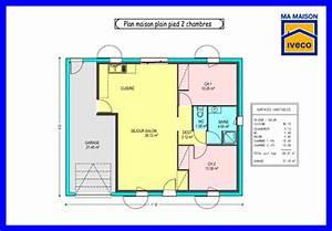 plan maison 2 chambre salon cuisine With plan de maison 2 pieces 2 plan maison moderne de plain pied 3 chambres ooreka