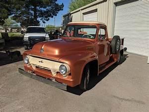 1954 Ford F250 Pickup Orange Rwd Manual F250 For Sale