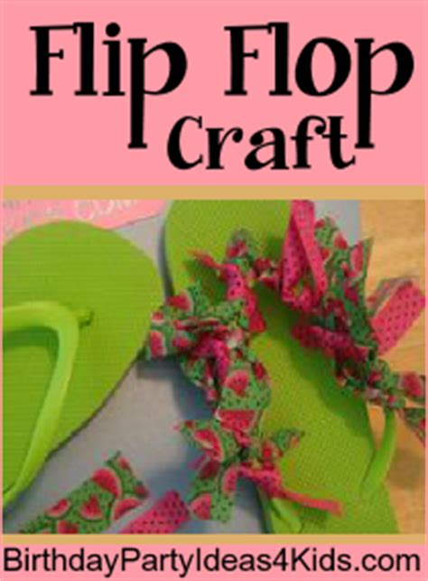 craft ideas for 13 year olds flip flop craft 7534